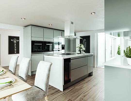 luxury holiday cottage kitchen
