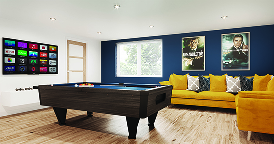 luxury holiday cottage games room
