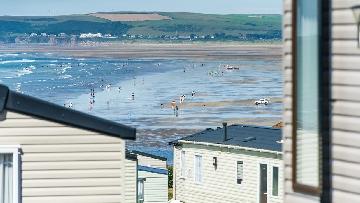 caravans with seas views in devon