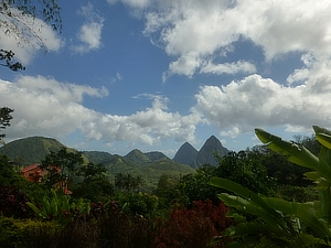 The majestic Pitons of Saint Lucia