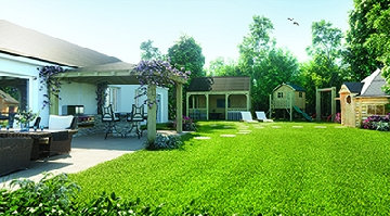 luxury holiday cottage garden