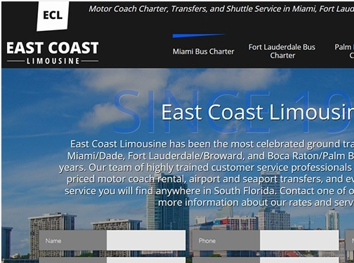 https://www.eastcoastlimomiami.com/ website