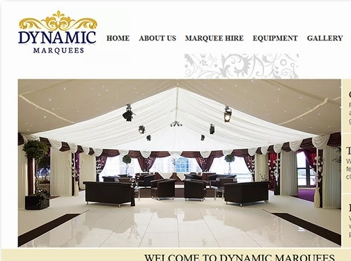 https://www.dynamicmarquees.co.uk/ website