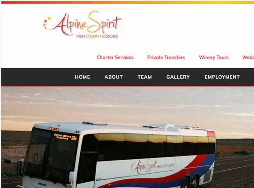https://www.alpinespiritcoaches.com.au/ website