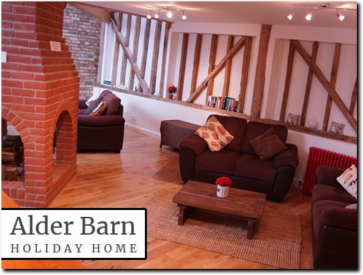https://www.alderbarnholidayhome.com/ website